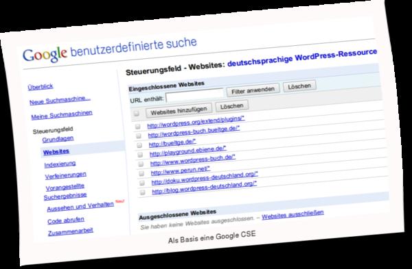 WordPress Ressourcen durchsuchen